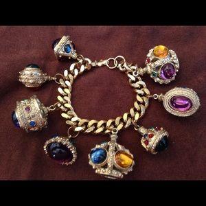 Jewelry - Vintage Russian Jewels Theme Charm Bracelet